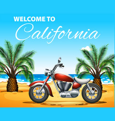Welcome to california poster design with vector