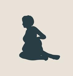 woman lying on the floor isolated vector image
