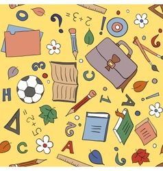 Seamless school background vector image