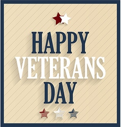 Veterans day design vector