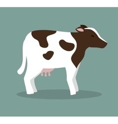 Cow animal farm icon vector