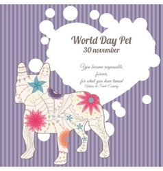 World day pet background vector image