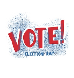 Vote typography election day logo isolated on vector