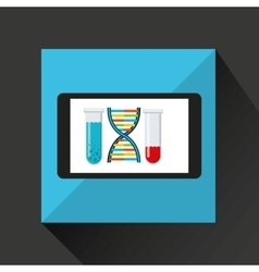 Chemistry laboratory smartphone dna test tube vector