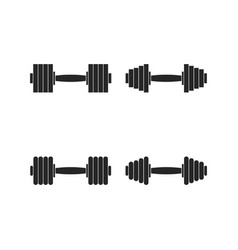 Icons dumbbells vector