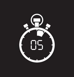Five minute stop watch countdown vector