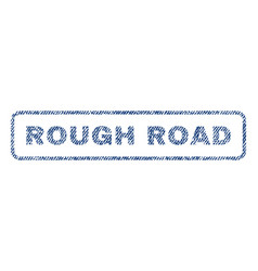 Rough road textile stamp vector