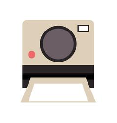 Photographic instant camera icon image vector