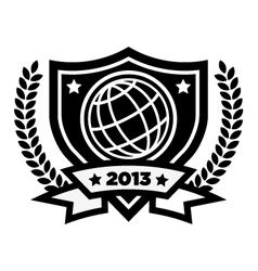 World Globe Logo Emblem vector image