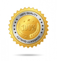 guaranty quality golden label vector image