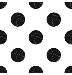 pluto icon in black style isolated on white vector image