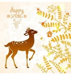 deer silhouette vector image