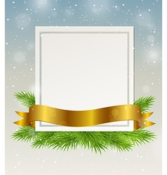 Decorative frame with golden ribbon vector