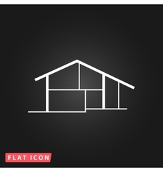 Modern house icon vector