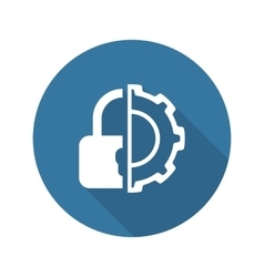 Security settings icon flat design vector