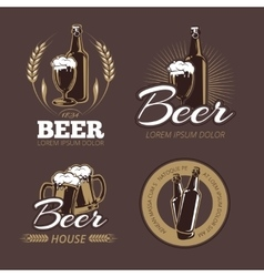 Color beer labels set vector