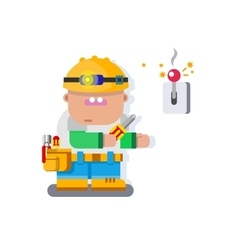 Electrician character flat design vector