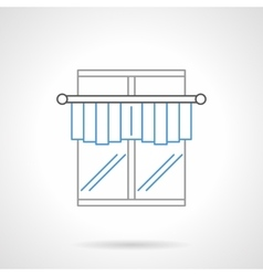Kitchen curtains flat line icon vector