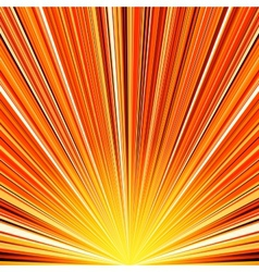 Abstract orange and yellow striped burst vector