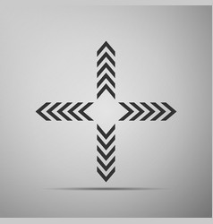 Arrows in four directions icon isolated vector