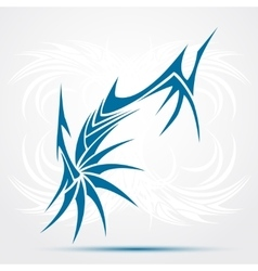 Blue Tribal tattoo vector image