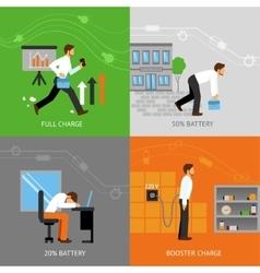 Businessman energy design concept vector