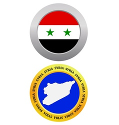 button as a symbol SYRIA vector image vector image