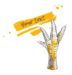 Chicken or turkey foot vector
