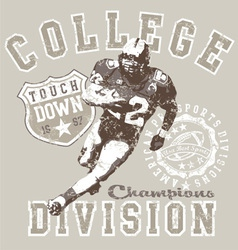 College football div vector