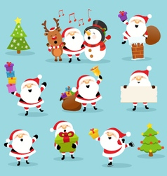 Cute Santa Set vector image