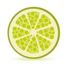 Dots lime vector