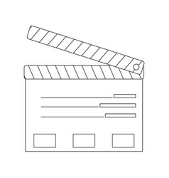 Film maker clapper board action icon vector