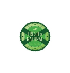 fresh eco friendly green theme label vector image