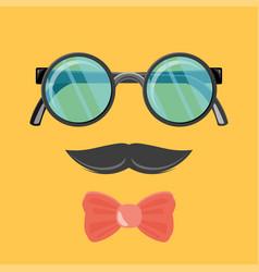 hipster sunglasses web banner flat design vector image