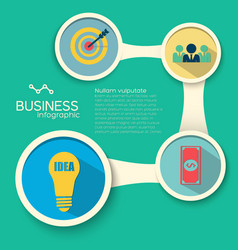 Infographic business design template vector