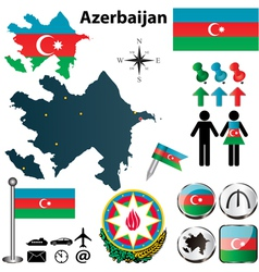 Map of Azerbaijan vector image