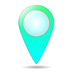map pin flat design style modern icon pointer vector image