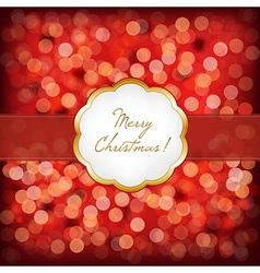 Merry Christmas Elegant Vintage Frame vector image