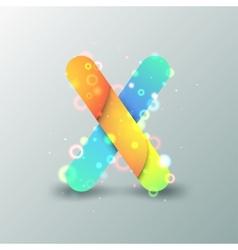 Modern Capital Letter X vector image
