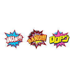 Set of comic text sound effect vector
