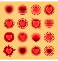 Sixteen hearts new vector