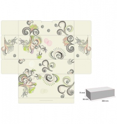 Template for decorative box vector