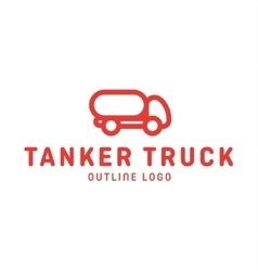 Truck trending an outline line quality logo vector image