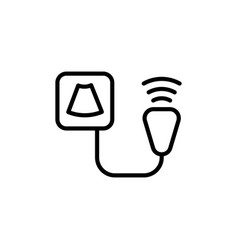 ultrasound device icon on white background vector image vector image