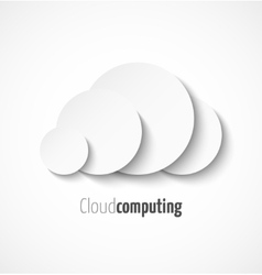 White paper cloud computing logo template icon vector image vector image