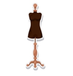 Female mannequin isolated icon vector