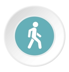 Man on pedestrian crossing icon flat style vector