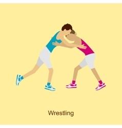 Sport people activities Wrestling vector image