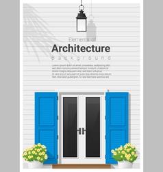 Elements of architecture front door background 14 vector