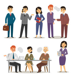 group asia working executive chinese business vector image